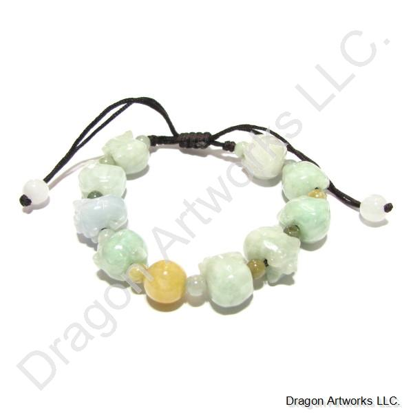 Colorful Jade Bracelet